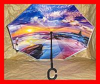 Зонт обратного сложения Up-Brella с чехлом, фото 1
