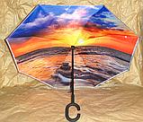 Зонт зворотного складання Up-Brella з чохлом, фото 4