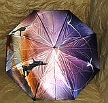 Зонт зворотного складання Up-Brella з чохлом, фото 7
