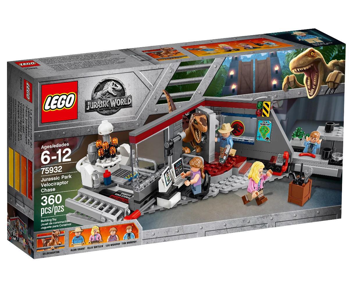 Lego Jurassic World Охота на Рапторов в Парке Юрского Периода 75932