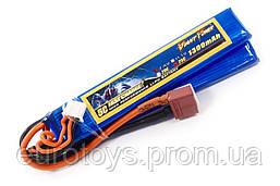 Аккумулятор для страйкбола Giant Power (Dinogy) Li-Pol 1300 мАч 7.4 В 103x20x7,5 мм T-Plug 25C