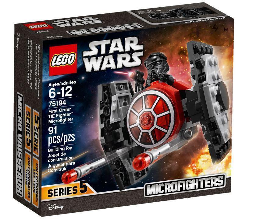 Lego Star Wars Микрофайтер Истребитель TIE Первого Ордена 75194