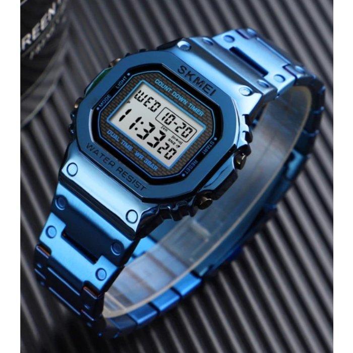 Skmei 1456 SINGAPORE синие мужские часы