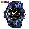 Skmei 1155 B HAMLET синий камуфляж спортивные часы, фото 3