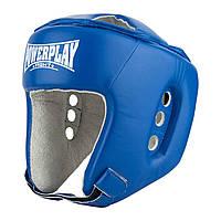 Боксерский PowerPlay шлем тренировочный cиний L 3084 SKL24-190065