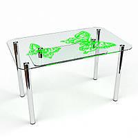 """Столик стеклянный """"Фоли С-2"""" стол для гостинной или кухни"""