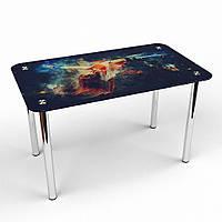 """Кухонный стол стеклянный """"Фотопечать"""" стол для гостинной или кухни"""