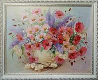Картина маслом цветы. Нежный букет.