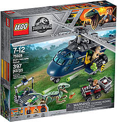 Lego Jurassic World Погоня за Блю на вертолёте 75928