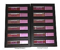 Набор жидких матовых помад Kylie 6 шт. Палитра Розовая А #B/E