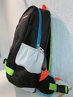 Рюкзак Найк 0447 черный с разноцветными ремешками код 497А