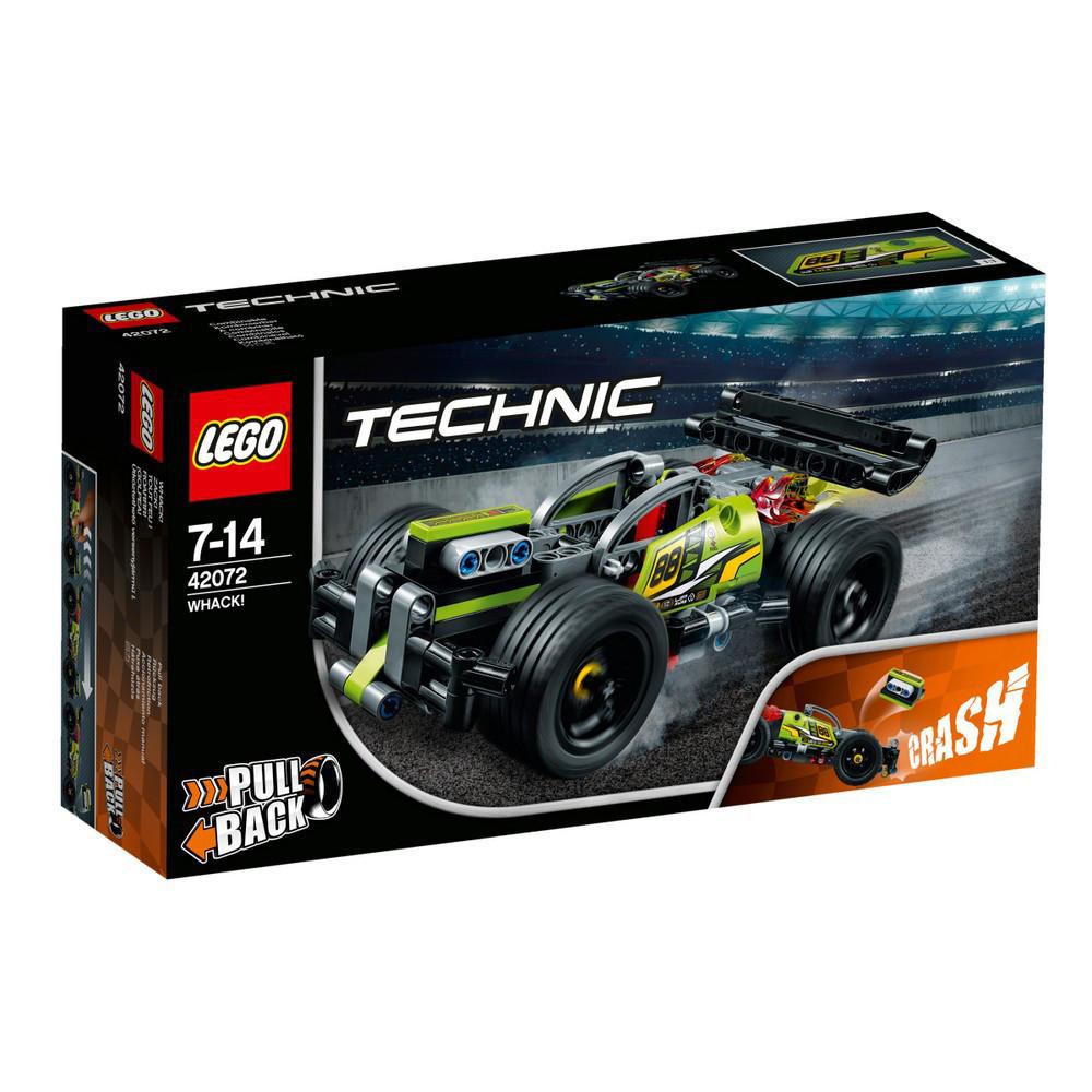 Lego Technic БУМ! Зеленый гоночный автомобиль 42072