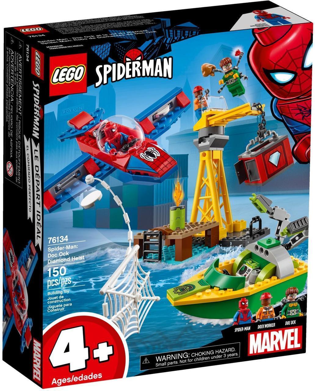 Lego Super Heroes Похищение бриллиантов Доктором Осьминогом 76134
