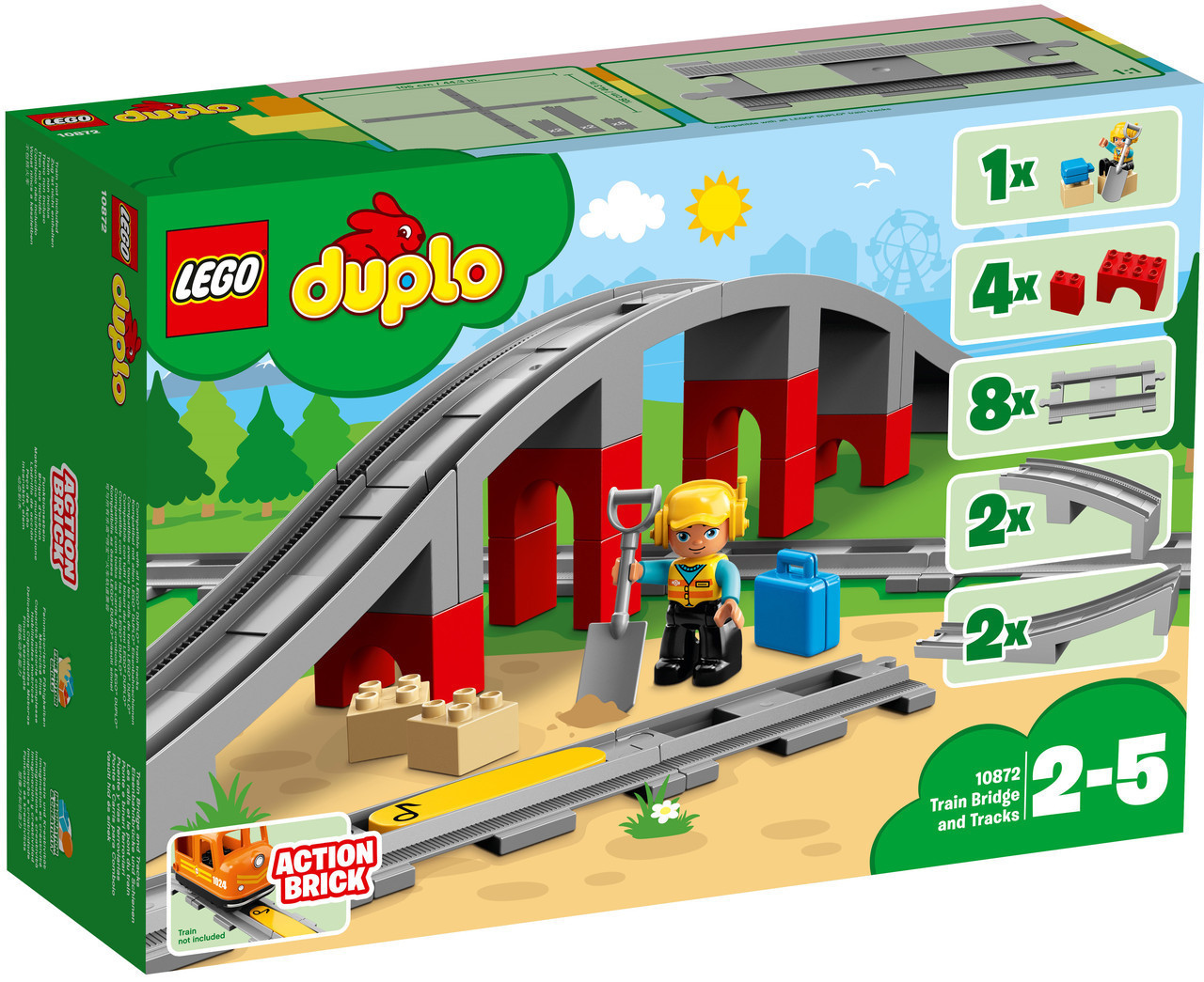 Lego Duplo Мост и железнодорожные пути 10872