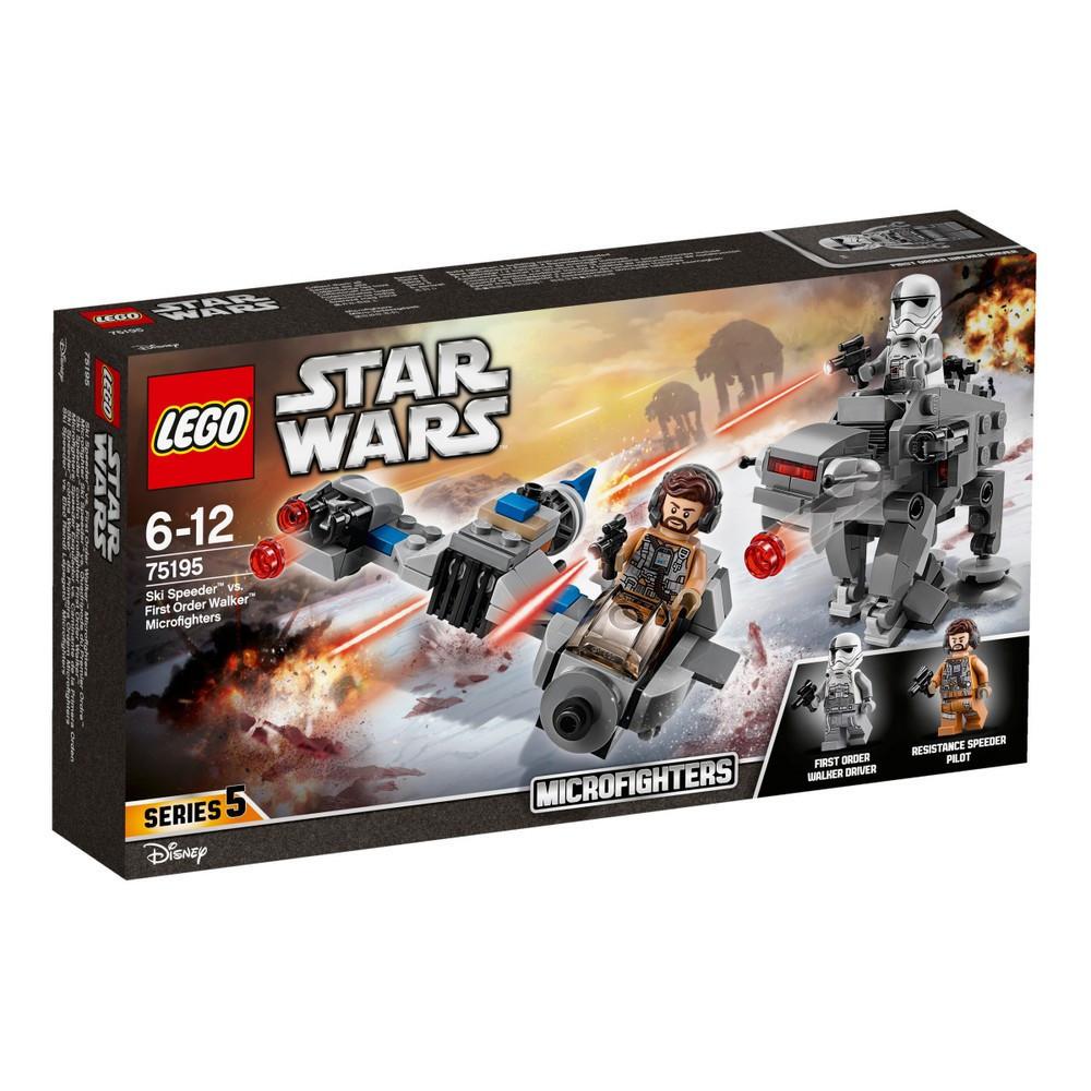 Lego Star Wars Лыжный спидер против шагохода Первого Ордена 75195