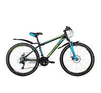 """Велосипед АVANTI 26"""" SPRINTER (15"""") черно зеленый с синим"""