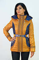 Женская куртка на синтепоне ENYI с вышивкой