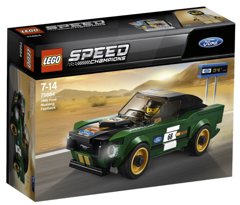 Lego Speed Champions 1968 Форд Мустанг Фастбэк 75884