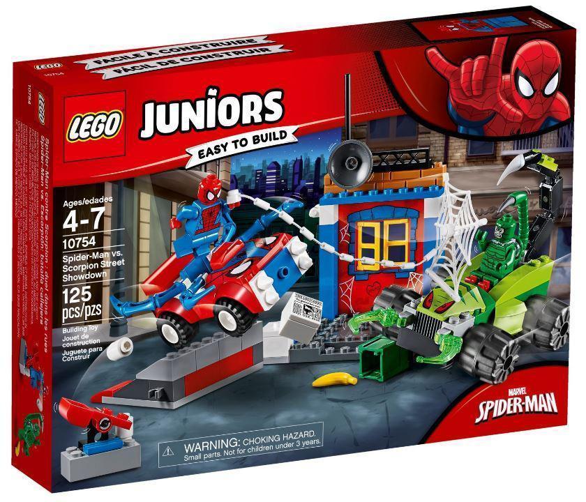 Lego Juniors Решающий бой Человека-паука против Скорпиона 10754