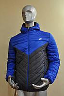 Мужская осенняя стеганная ветровка Nike, утепленная