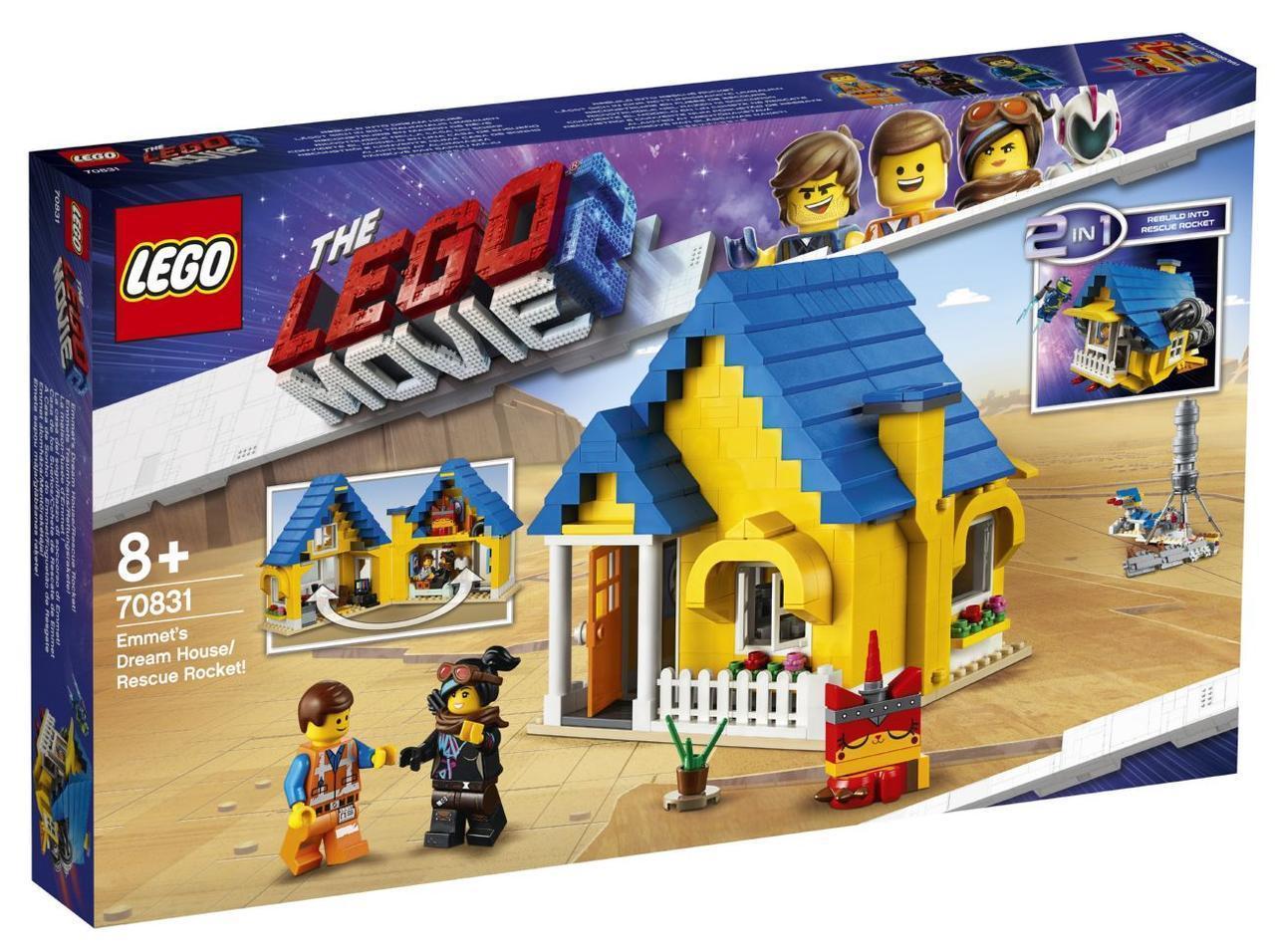 Lego Movie 2 Дом мечты / Спасательная ракета Эммета! 70831