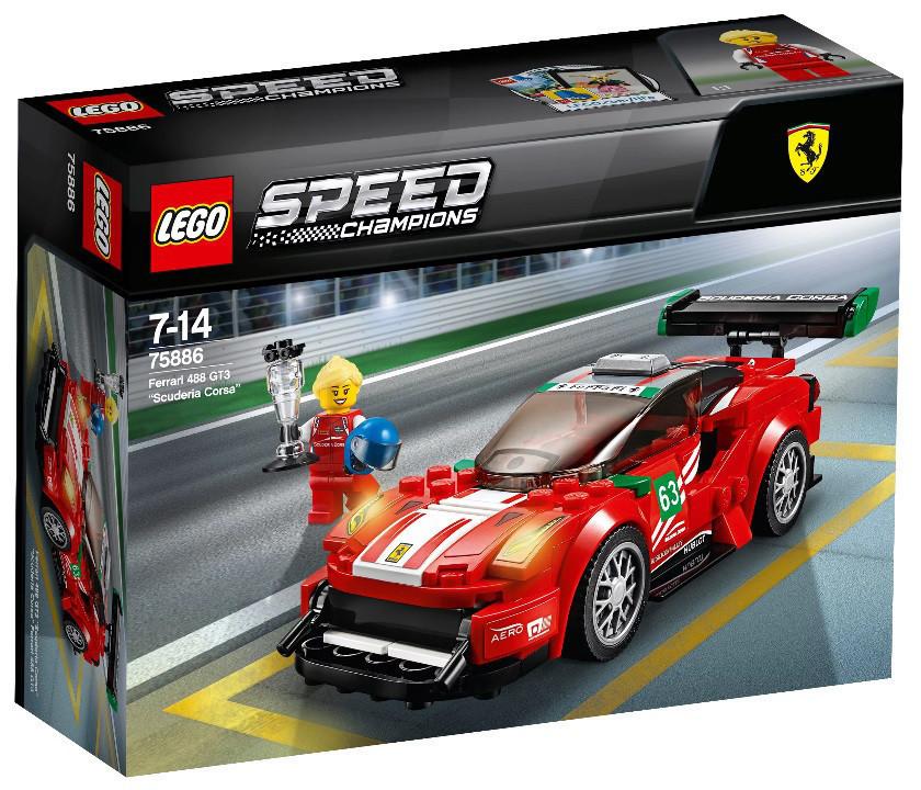 "Lego Speed Champions Феррари 488 GT3 ""Scuderia Corsa"" 75886"