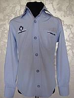Голубая рубашка для мальчиков 110,116,122,128 роста