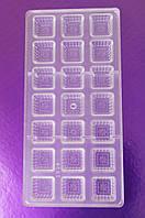 Форма для конфет поликарбонат цветочек (код 04167)
