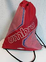 Рюкзак-мешок Umbro 30373 красный с белым  код 502А
