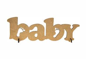 Заготівля напис Baby МДФ 37*12см ROSA Talent