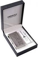 Электро-зажигалка Honest silver №4339, зарядка от USB!
