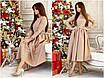 Изысканное нарядное платье, размеры: 42-44, 44-46, цвета - хаки, светло-бежевый, фото 3