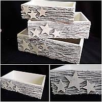 Декоративный новогодний ящик из дерева, 12х39х24.5 см., 170 грн.