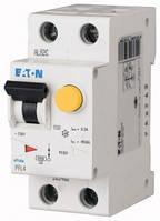 Дифференциальный автоматический выключатель PFL4 1P+N 4,5кА B 16А 30mA Eaton (Moeller)
