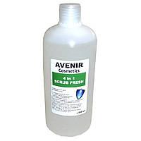 Препарат для обезжиривания ногтей A029 Avenir Scrub Fresh 4 в 1 100 мл