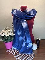 Палантин шарф теплый, женский, узор - абстракция