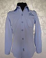 Рубашка голубая для мальчиков 110,116,122,128 роста