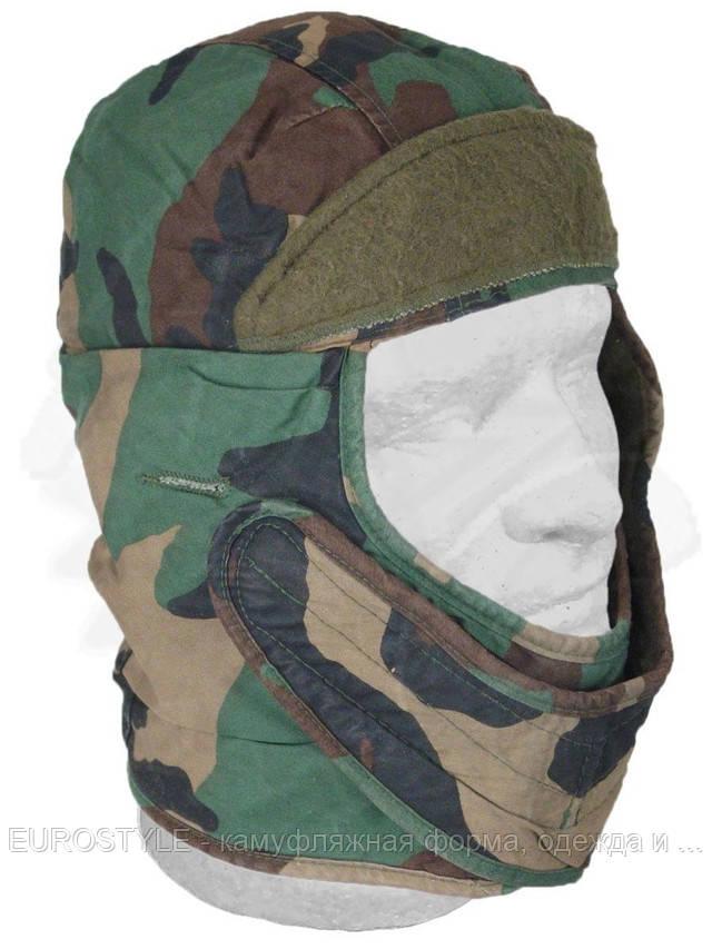 Купить шапку зимнюю камуфляж Woodland Camouflage
