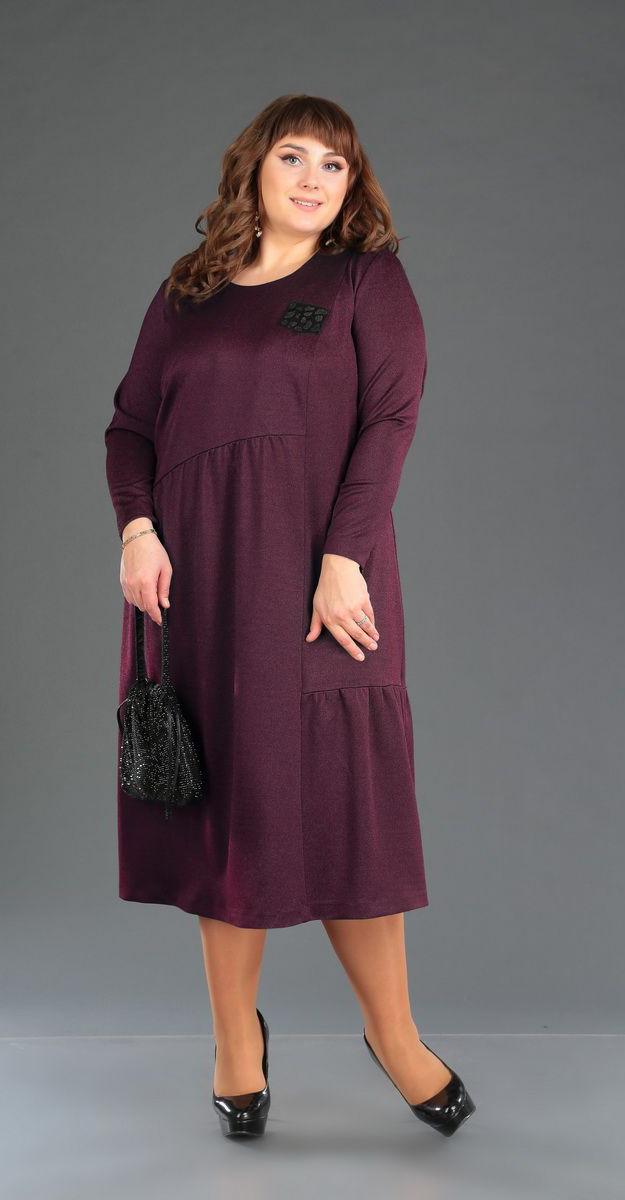 Сукня Novella Sharm-3359-3 білоруський трикотаж, бордо, 60