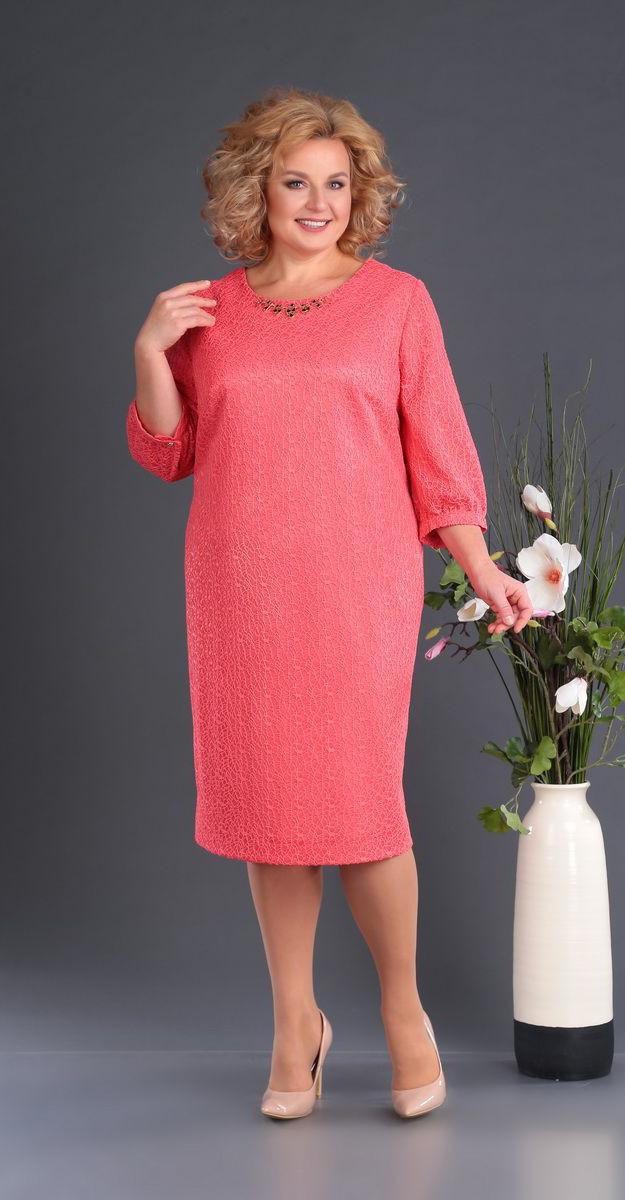 Сукня Novella Sharm-3381 білоруський трикотаж, рожеві тони, 60