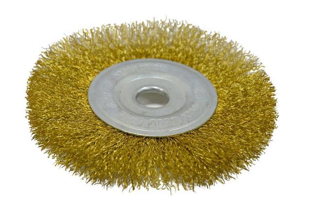 Щетка-крацовка дисковая, латунная