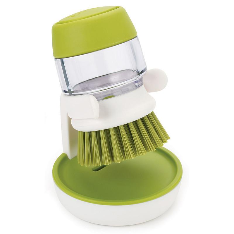 🔝 Ершик для мытья посуды, Jesopb, встроенный дозатор для моющего средства, (доставка по Украине), Кухонні аксесуари, Кухонные аксессуары