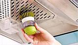 🔝 Ершик для мытья посуды, Jesopb, встроенный дозатор для моющего средства, (доставка по Украине), Кухонні аксесуари, Кухонные аксессуары, фото 6