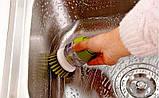 🔝 Ершик для мытья посуды, Jesopb, встроенный дозатор для моющего средства, (доставка по Украине), Кухонні аксесуари, Кухонные аксессуары, фото 7