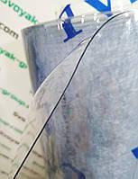 Пленка гибкое стекло силиконовая 1500 мкм (1,5 мм) - ширина 1,4м.Прозрачная.