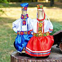 Свадебная одежда на шампанское в украинском стиле
