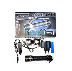 Ліхтар монокристалический , ZOOM 500W, з кріпленням на кермо модель BL8652, зарядним пристроєм 220V і авто