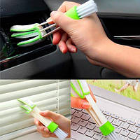 Щетка для чистки автомобильного кондиционера, жалюзи, клавиатуры