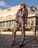Модный горнолыжный женский комбинезон