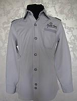 Рубашка для мальчиков 110,116,122,128 роста светло-серая